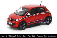 Norev 517416 Renault Twingo Sport Pack 2014 Flamme red