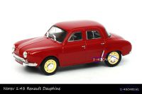 Norev 77 11 575 922 Renault Dauphine Bordeau red yellow