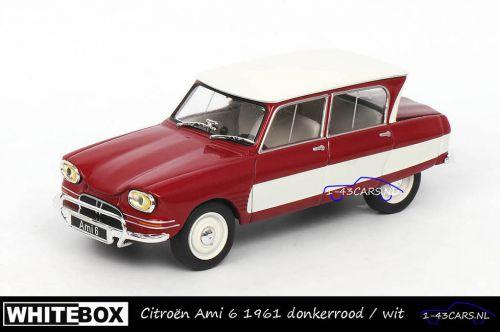 Whitebox WB155 Citroen Ami 6 1961 donkerrood en wit